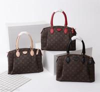 Wholesale tote bag materials resale online - Natural Cowhide Material Hand Elbow Crosm44543 New Women Fashion Shows Shoulder Bags Totes Handbags Top Handles Cross Body Messenger Bags