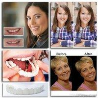 ingrosso denti che imbiancano i denti-2 pezzi riutilizzabili per adulti snap on sorriso perfetto sbiancamento protesi dentaria fit flex denti cosmetici comodo rivestimento impiallacciatura accessori per la cura dentale