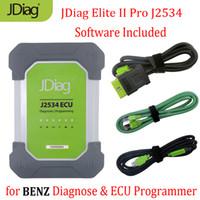 Wholesale diagnostic tool pro resale online - JDiag Elite II Pro J2534 Diagnostic ECU Programmer Tool for with Free Software PK MB Star C4 Car Diagnostic Tool