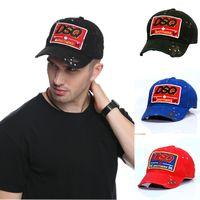 katı siyah şapka toptan satış-SBT Marka Beyzbol Man Woma için SBT Logo Şapka Siyah Cap Baba Şapka Katı Desen Şapka Mektupları DSQ2 Casquette Hop Beyzbol şapkası Snapback Cap Caps