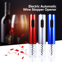 Wholesale wine opener foil cutter resale online - Original Electric Wine Opener Corkscrew Automatic Wine Bottle Opener Kit Cordless with Foil Cutter New Kitchen Tool