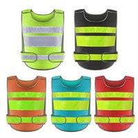 ingrosso giacca arancione-Esecuzione di alta visibilità riflettente Gilet fluorescente Giallo Orange Security Mesh Gilet Per Notte Outdoor riding Vest