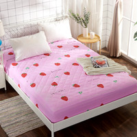 Wholesale king size single beds for sale - Cotton Fitted Sheet Mattress Cover Bed Sheets Bedlinens With Elastic Band Single Double Twin Queen Size cm cm size s