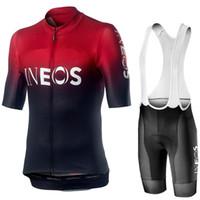 xs team sky одежда оптовых-Мужчины Велоспорт Джерси 2019 Pro Team INEOS Лето Велоспорт Одежда Quick Drying Set Racing Sport Mtb Велосипедные майки Велосипед Униформа