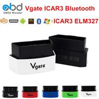icar obdii elm327 venda por atacado-2019 vGATE Icar 3 ELM327 Obd2 Diagnostic Scanner Icar3 Bluetooth Auto Código Obdii Suporte Leitor Todos os OBDII OBD 2 Protocolos