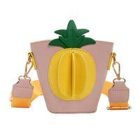Wholesale mini red buckets for sale - Group buy Fashion D pineapple girls bags Mini kids purse designer kids bags Childrens Bags Girls Shoulder Bag Messenger Bag Cute bucket bag A8921