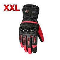 Wholesale professional motorcycle gloves resale online - Taslan Waterproof Fabric Professional Touch Screen Winter Motorcycle Gloves Warm Waterproof Protective