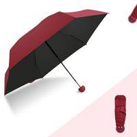Wholesale manual capsule resale online - Japan Creative Rain Gear Sunny Rain Umbrella Dual Use Manual Pill Folding Black Glue Sunscreen Parasol Female Capsule Umbrella