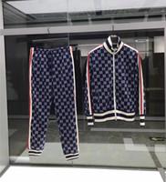 ingrosso giacche di lusso-Tute da uomo Felpe Tute Tuta sportiva di lusso Uomo Felpe Giacche Cappotto Mens Medusa Sportswear Felpa Tuta Giacca set