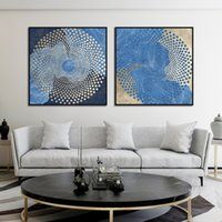 Wholesale chinese abstract art paintings resale online - Abstract Line Gold Foil Point Posters and Prints Chinese Style Canvas Painting Modern Home Decoration Framework Wall Art Picture