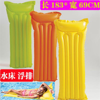 Wholesale men beds online - Outdoor Water Swim Floating Bed Sea Air Cushion Floatings Row Environment Protection Men Women Yellow Convenient jn C1