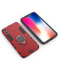 metal cep telefonu kutuları toptan satış-iPhone için 5 5s 6 6s 7 8 Plus X Xs Xr Xs Max Vaka Araç Montaj Manyetik Gözde mekan Metal Parmak Halka Tutucu TPU PC Cep Telefonu Kılıfı