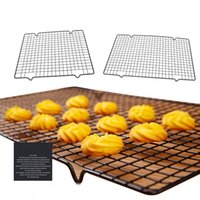 Wholesale baking racks resale online - Stainless Steel Nonstick Cooling Rack Cooling Grid Baking Tray For Biscuit Cookie Pie Bread Cake Baking Rack Bakeware Kitchen Tools