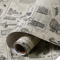 старинные металлические обои оптовых-Газета шаблон ПВХ самоклеящиеся обои ремонт дома стикер стены кабинет таблица