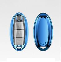 tampa para chaves de carro nissan venda por atacado-Patente TPU Car Auto Remote Key Case Capa Shell para Infiniti Nissan Sunny / Teana / X-Trail / Livina / Sylphy Car Acessórios Styling