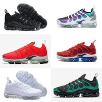 Wholesale sell tn shoes for sale - Discount New Tn Plus Shoes Hot Sell Hyper Violet Blue Men Women Running Shoes Triple White Black Cushion Trainer Air Tn Requin Sneakers