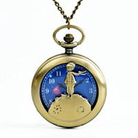 ingrosso tasca rossa-NUOVI bambini bambini Retro vintage Hollow Red Scarf Little Prince Pocket Watch Starry Prince Pocket Watch Orologio da taschino Little Boy