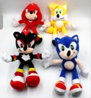 Wholesale plush sonic toys resale online - 25cm NNew Arrival Sonic the hedgehog Sonic Tails Knuckles the Echidna Stuffed animals Plush Toys gift