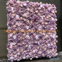 fundo da parede da flor venda por atacado-12 pçs / lote Corredor Da Parede Da Flor Artificial para Rosas peônia Wedding Party Backdrop Arco Centro de MesaPiece Decoração Da Flor 3D