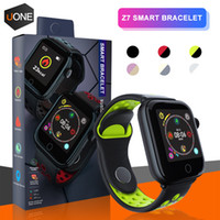 Wholesale smart watches camera heart monitor for sale - Group buy Z7 Smart Watch fitness tracker Heart Rate bracelet smartwatch Monitor IP68 Waterproof Step for apple watch PK DZ09 ios android smart phone