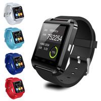 u8 relógios inteligentes para homens venda por atacado-Bluetooth smart watch u8 esporte pedômetro smartwatch crianças homens mulheres para iphone 6/7/8 / x samsung s4 / nota / s6 htc android telefone