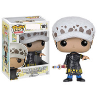 Wholesale anime figure box resale online - 4 styles Funko POP Anime One Piece trafalgar law Vinyl Action Figure With Box Popular Toy Gify gift