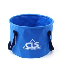 Wholesale portable car wash bucket resale online - 10 L Foldable Water Bucket Car Wash Camping Fishing Cleaning Portable Folding barrel Outdoor Traveling Retractable Water Bags