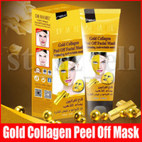 ingrosso maschera d'oro facciale-Collageno dell'oro Peel fuori la mascherina facciale Viso Maschere Skin Care Face Lifting rassodante Maschera 120ml