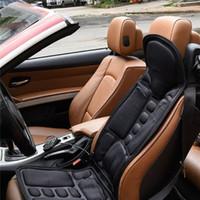 jeu de housses de siège à brunir achat en gros de-Multifonctions chauffant massage Siège intelligent Coussin de siège de voiture de contrôle Chaise de massage lombaire cou Pad dispositif de protection de surcharge