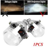 lente oculta al por mayor-3 pulgadas Universal doble lente HID lente H4 H7 faros de alta definición luces de la lámpara H1 óptica