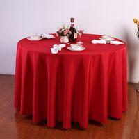 azul púrpura mesa decoración al por mayor-Color Sólido Purple Vino Rojo Lavable Mantel de La Boda Para la Fiesta de Mesa de Comedor Banquete de Fable Redonda Decoración