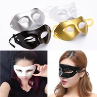 Wholesale venetian wedding masquerade masks for sale - Group buy Men s Masquerade Masks Fancy Dress Venetian Masks Plastic Half Face Mask Halloween Party Christmas Gift Color WX9