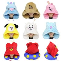 Wholesale animal shape cushions for sale - Group buy Cute BTS U Shaped Pillow Soft Animal Dog Rabbit Sheep Design Cushion With Hat Pillows Top Quality rb BB