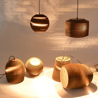 ingrosso stile asiatico art-Nuove lampade a sospensione vintage creative e27 base per bar camera da letto art deco illuminazione domestica Lampada a sospensione a led in stile sud-est asiatico