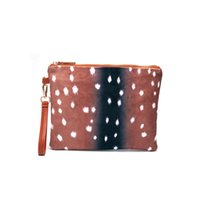Wholesale wristlet pouch resale online - Aixs Flannel Deer Clutch Blanks Deer Pattern Wristlet Purse RTS Animal Prints Clutch Pouch With Zip Top DOM684
