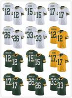 Wholesale green bay jersey youth for sale - Group buy Mens women youth Green Bay Packers Aaron Rodgers Jaire Alexander Davante Adams Brett Favre Football Jerseys Green White