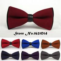 ingrosso matrimonio grigio giallo-New Fashion Suit Wedding Tuxedo Dress Bowtie Rosso / Blu / Marrone / Nero / Giallo / Viola / Grigio Colori solidi Farfalla Papillon Per