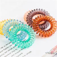 zahnfleisch armbänder großhandel-28 farben Telefon Drahtseil Gummi Haargummi 4,1 cm Mädchen Elastisches Haarband Ring Seil Candy Farbe Armband Stretchy Haargummi FJ348