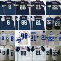 Wholesale football jerseys smith resale online - Mens NCAA Troy Aikman Vintage Football Jersey Stitched Deion Sanders Emmitt Smith Michael Irvin Thanksgivings Jersey S XL