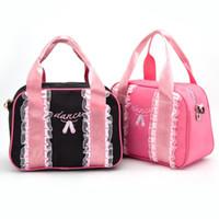 ingrosso le frizioni di pizzo sono rosa-Le borse di frizione rosa di vendita calda adattano i sacchetti del pizzo delle donne del crossbody di dancing di balletto per le borse delle signore dei bambini Trasporto libero