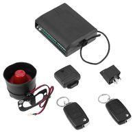 flip-taste alarm großhandel-Universal Car Alarm System mit Flip Key Fernbedienung Zentralverriegelung