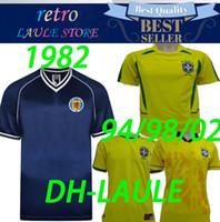 ingrosso scozia case-1982 Scozia retro soccer jersey casa blu world cup Dalglish Strachan Miller Hansen Wood 94 98 brasile home ronaldo maglie da calcio