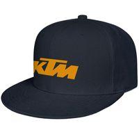 Wholesale motorcycle racing hats resale online - Womens Mens Flat along Adjustable KTM Racing Motorcycle logo Rock Punk Cotton Tennis Cap Summer Hats Military Caps Airy Mesh Hats For Men Wo