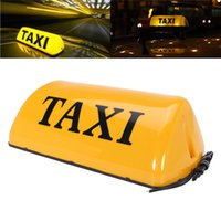 señales de techo del coche al por mayor-12V Taxi Cab Sign Roof Topper Top Car Lámpara magnética LED Light Waterproof 11 '' TAXI Lámpara de techo Bright Top Board Sign
