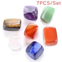 ingrosso pietre grezze-7 Chakra Crystal Healing Tumbled Stones Set Cristalli Misti Grezzo Naturale Pietre Ruvide per Tumbling