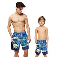 Wholesale swimwear for children boy for sale - Group buy Kids Swimtrunk for to Years Old Boys Children D Print Quick Dry Swimwear Swim Shorts Summer Hol iday Beach Clothes A40