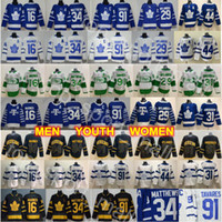 camiseta de hockey tavares al por mayor-Hombres Kid Señora Toronto Maple Leafs Auston Matthews Jersey John Tavares hockey Mitchell Marner William Nylander Frederik Andersen Morgan Rielly