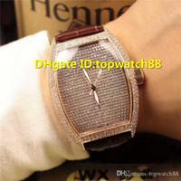 diamante suizo 18k al por mayor-WX Nuevos relojes de diseño para hombre Relojes suizo automático de zafiro Cristal lleno Diamante 18K Rosa dorada Caja de piel de becerro Estuche sólido Volver Reloj para hombre