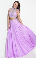 Wholesale rachel allan prom for sale - 2019 New Rachel Allan Two Pieces Prom Dresses Backless Evening Gowns Major Beading Formal Party Homecoming Dress Cap Sleeves