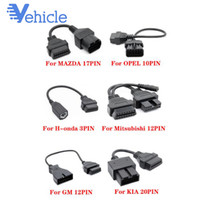 Wholesale 16pin OBD OBDII Scanner For H onda for mitsubishi GM KIA Old Car Diagnostic Cable Adapter